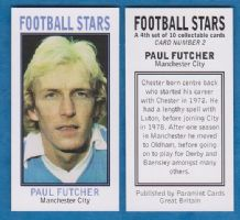 Manchester City Paul Futcher